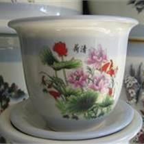 带底托陶瓷花盆 便宜陶瓷花盆