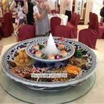 生產定做陶瓷雙層海鮮盤子的廠家