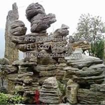 武漢假山石供應賣千層石斧劈石
