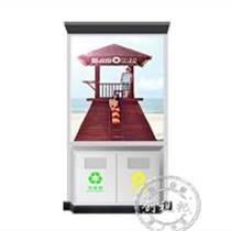 58寸戶外環保垃圾桶廣告機