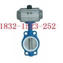 D671F-16鑄鐵氣動對夾四氟蝶閥