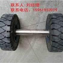 平板拖車車架總成配實心輪胎