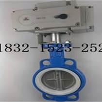 D971F-16電動四氟對夾式蝶閥