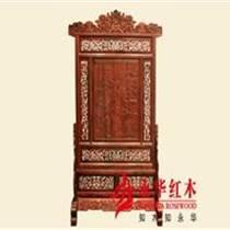 永華紅木家具清式雕花紅木屏風