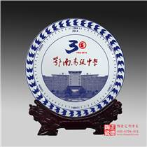 定做春節陶瓷手繪禮品紀念盤
