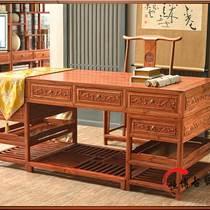 實木榆木辦公桌電腦桌大班桌