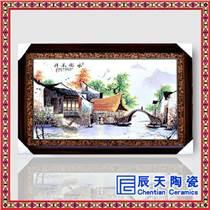 陶瓷工藝瓷板畫 高檔手繪陶瓷瓷版畫 景德鎮陶瓷廠家