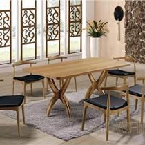 深圳漢風餐廳家具實木餐桌椅