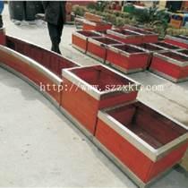 塑木花架|合肥防腐木花箱