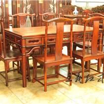 在山东淄博买一套缅甸花梨餐桌需要多少钱 王义红木家具