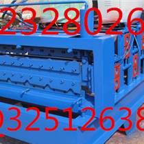 河北順特910型彩鋼板壓瓦機設備采用plc變頻器控制,精度準出板速度快