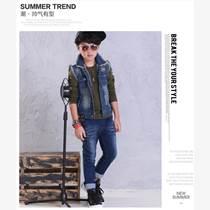 韩版加厚童装牛仔裤低价批发出售