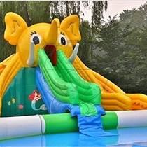 山东庙会儿童乐园 充气滑梯城堡