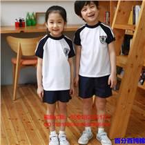 西部元素夏季新款小學生幼兒園園服服兒童白色圓領短褲套裝批發