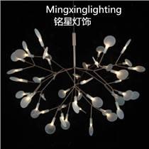 moooi雪花燈廠家批發LED螢火蟲白色葉子LED雪花燈奢華雪花吊燈廠