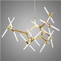 人字樹叉吊燈客廳餐廳別墅樓梯鋁合金長吊燈