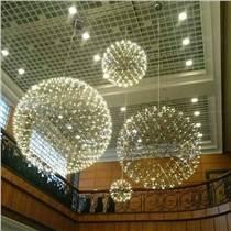 商場中庭2016新款吊燈廠家批發創意賣場天棚LED火花球滿天星空燈