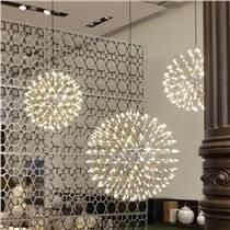 銘星燈飾現代別墅燈具樓梯酒吧吊燈創意個性火花球煙花滿天星空中燈店鋪燈