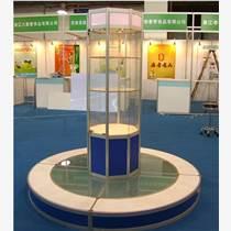精美貨架 玻璃貨架鈦合金展柜 廠家直售 更省錢!