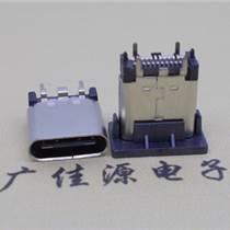 直立式 Type-C短体6.5MM母座夹板0.8/1