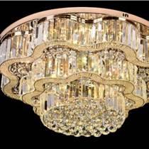 圓形水晶燈客廳led吸頂燈臥室燈溫馨簡約現代餐廳燈具燈飾