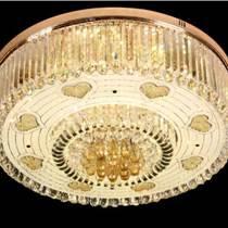 臥室溫馨浪漫水晶燈婚房吊燈簡約客廳燈心形圓形燈具
