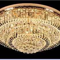 圓形水晶燈客廳燈具大氣吸頂現代led燈餐廳燈臥室燈飾