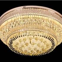 圓形新品水晶燈客廳燈酒店大廳歐式led吸頂燈具