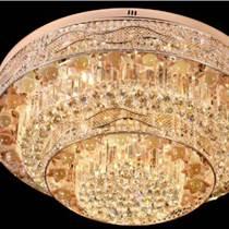 圓形水晶客廳燈豪華led吸頂燈簡約臥室燈餐廳吊燈燈具