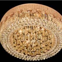 歐式LED水晶燈客廳圓形吸頂燈具大廳燈臥室書房燈