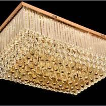 led吸頂燈長方形水晶燈現代簡約臥室燈具燈飾