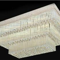 水晶燈長方形客廳調光簡約現代溫馨大氣新款遙控led臥室吸頂燈