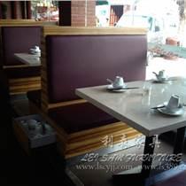 觀瀾西餐廳餐桌 咖啡廳實木餐桌 時尚奶茶店餐椅組合 茶餐桌椅