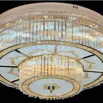 現代簡約led臥室燈吸頂燈溫馨圓形水晶燈客廳浪漫餐廳吊燈具