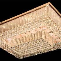 LED客廳吸頂燈飾長方形水晶燈具主臥室房間大氣現代簡約溫馨