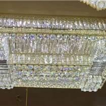LED客廳吸頂燈飾長方形水晶燈具主臥室房間大燈大氣溫馨現代