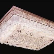 現代客廳燈長方形水晶燈大氣led吸頂燈臥室燈遙控調光變色燈