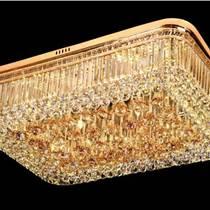 水晶燈吊燈LED吸頂燈長方形客廳燈現代遙控豪華大廳大氣燈飾