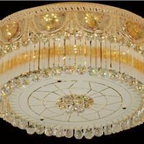 吸頂水晶燈圓形現代簡約餐廳燈溫馨臥室燈個性吸頂客廳水晶燈