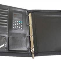 活頁夾,皮革活頁夾,帶計算器,拉鏈包