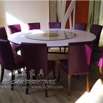 深圳餐飲家具定制批發 時尚茶餐廳中餐廳圓形餐桌椅 多人位餐桌椅