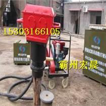 石家莊汽油植樁機防汛木樁打樁機批發商