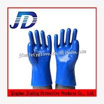 PVC藍磨砂手套防滑手套