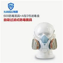 海固600半面罩防毒面具優點