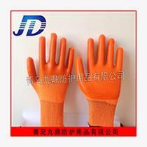 勞動防護用品直銷橘紗小全掛浸膠勞保工作手套建筑木業