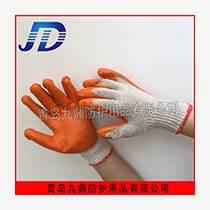 廠價批發勞保手套棉線內里乳膠涂層耐磨耐用工業防護手套浸膠掛膠