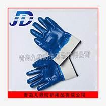 安全口藍丁腈棉內里勞保防護手套