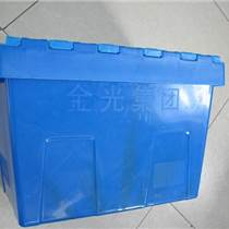 上海醫藥行業斜插式物流周轉箱帶蓋560