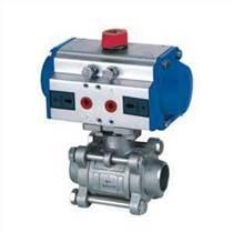 氣動三片式球閥Q661F 氣動不銹鋼焊接球閥