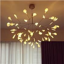 橄榄吊灯客厅创意萤火虫树枝叶子别墅卧室酒店工程餐厅橄榄吊灯